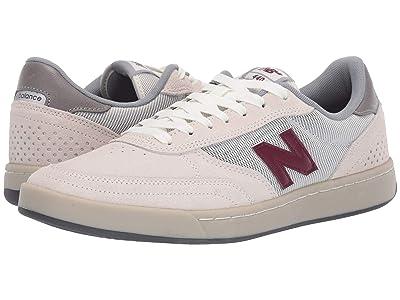 New Balance Numeric NM440 (Sea Salt/Burgundy Suede) Skate Shoes