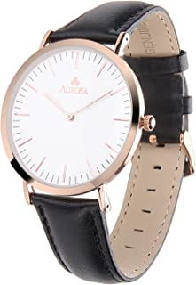 Aurora Women's Aurora Women's Metal Casual Rose Goldtone and Stainless Steel Parker Watch