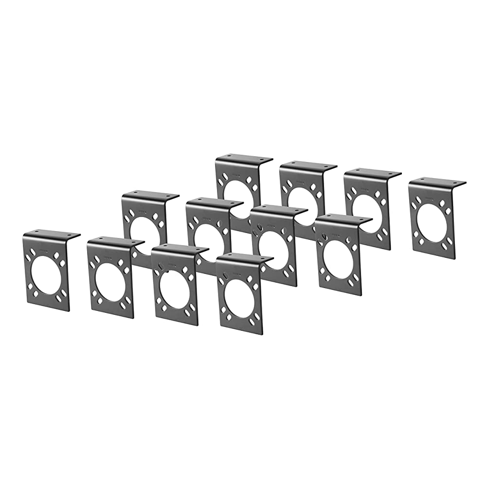 CURT 57205 Vehicle-Side Trailer Wiring Harness Mounting Brackets for 7-Way RV Blade, 12-Pack