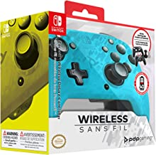 PDP Nintendo Switch Faceoff Wireless Deluxe Controller - Neon Blue Camo, 500-202-NA-CMLB - Nintendo Switch