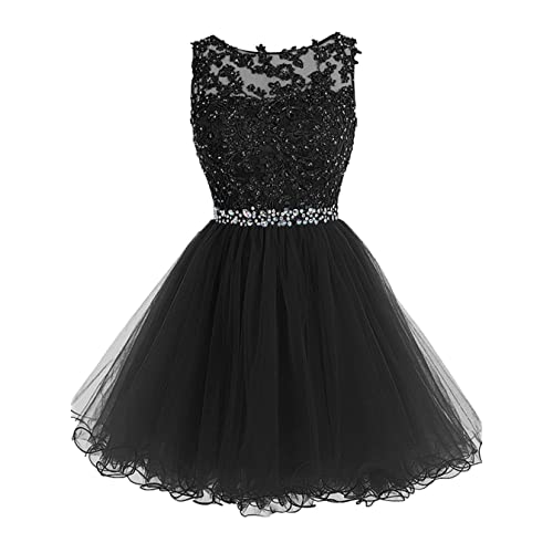 193dc6ef904 WDING Short Tulle Homecoming Dresses Appliques Beads Prom Party Gowns