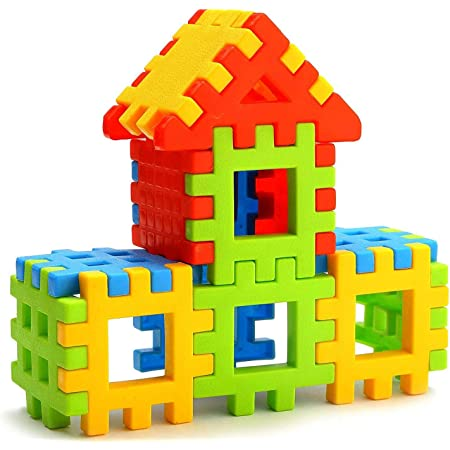 Lodestone Building Block Toy for Kids, Age 2 to 5, 38 Piece (Multicolour)