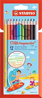 Colouring Pencil - STABILOaquacolor Wallet of 12 Assorted Colours