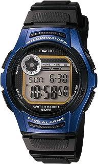 ساعة رياضية رقمية متعددة الوظائف من كاسيو W213 مع بطارية تدوم حتى 10 سنوات