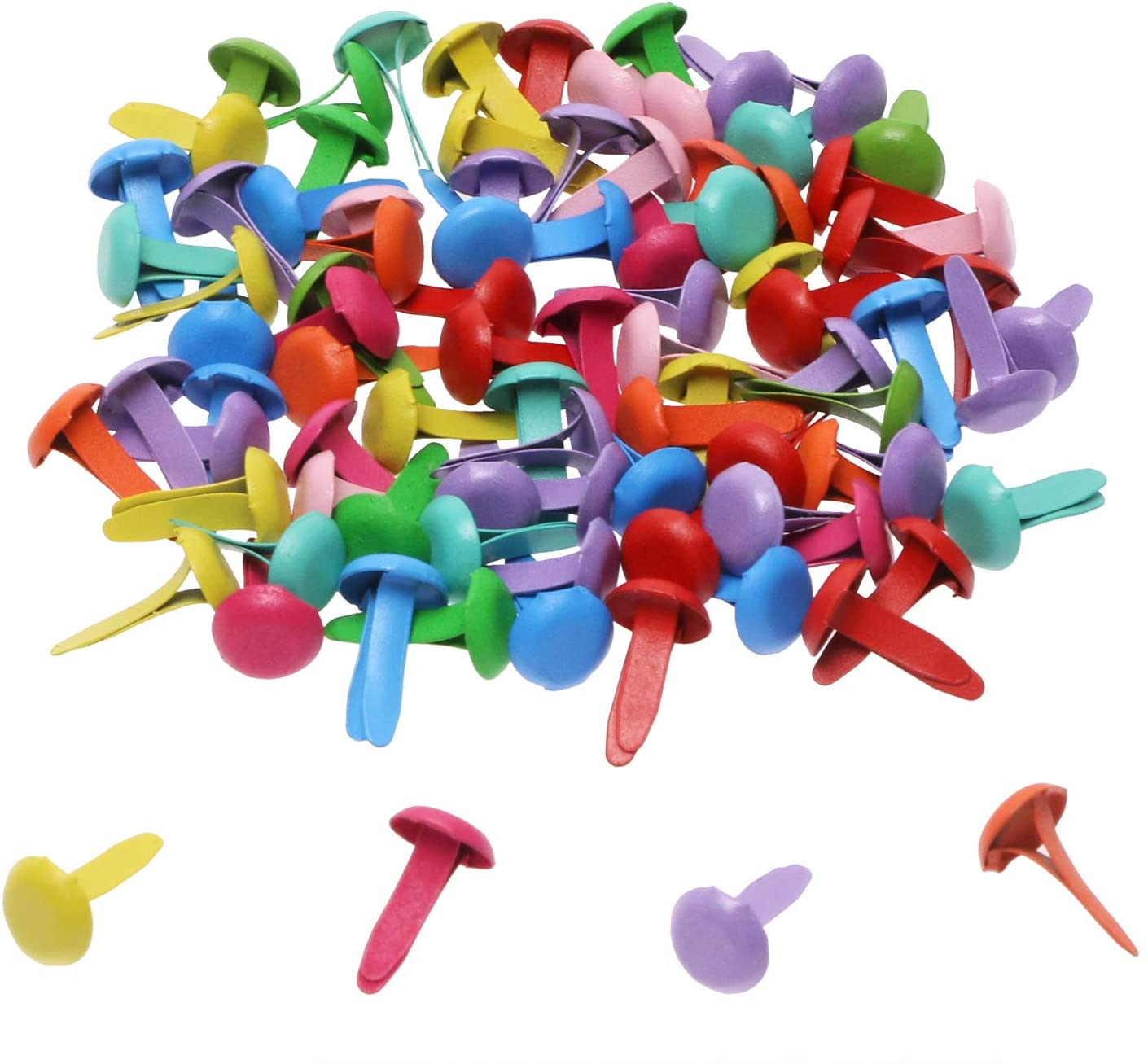 Penta Angel Mini Brads 100Pcs excellence Paper Fasteners Spasm price Ro Assorted Colors