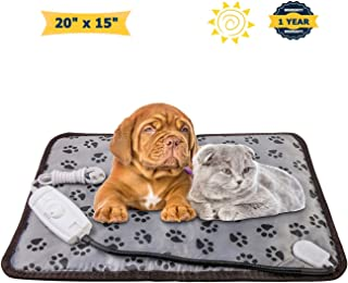 OTOFY Pet Heating Pad for Dog Cat Heat Mat Indoor Electric Waterproof Dog Heated Pad with Chew Resistant Cord, Pet Blanket Warmer