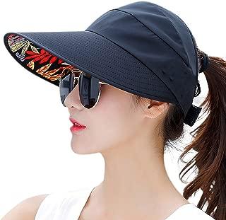 Sun Hats for Women Wide Brim Sun Hat Packable UV Protection Visor Floppy Womens Beach Cap