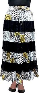 COTTON BREEZE Women's Cotton A-line Skirt (Multi-Coloured)