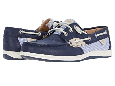 Sperry Songfish Mini Check (Navy) Women