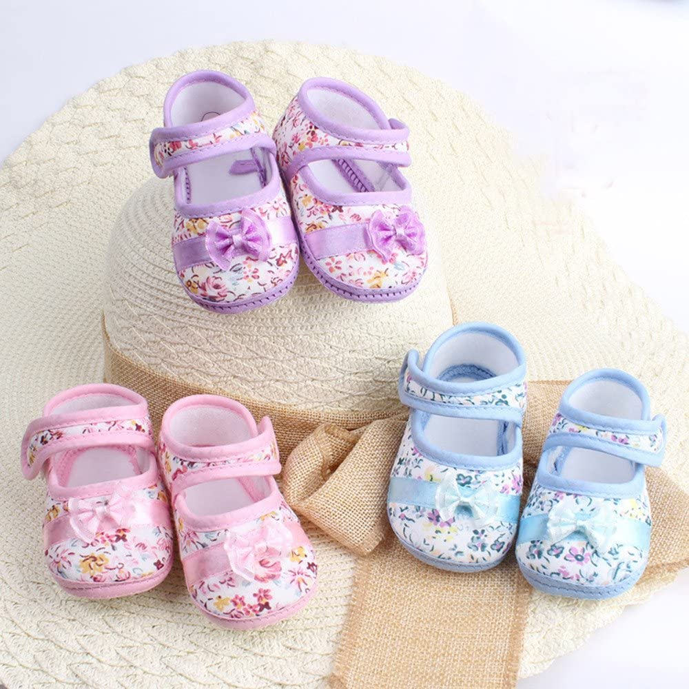 Anti-Slip Baby Shoes,First Walker Bowknot Cloth Toddlers Mocassins Infant Prewalker Crib Shoes New