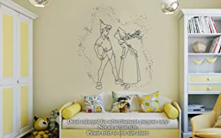 Peter Pan Wendy Tinker Bell Wall Decals Kiss Peter Pan And Wendy Pixie Dust Stickers Decorative Design Ideas For Your Home or Office Walls Removable Vinyl Murals EC-0518