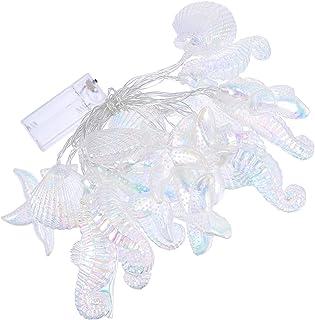 FRCOLOR Nautical Theme Led Lights Beach Led Fairy Lights Fairy Mini String Lamp Seahorse Sea Star for Room Bedroom Bathroo...