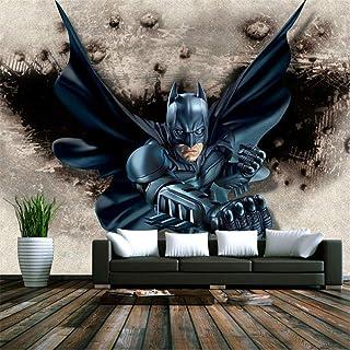 Fond D'Ecran Murale Papier peint Intissé3D Batman Papier Peint Personnalisé Grand Papier Peint Photo Super Héros Papier Pe...