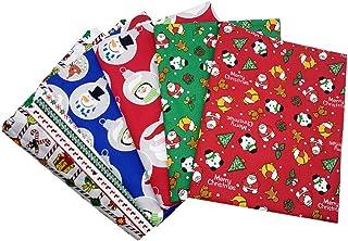 KESYOO 6 Peças de Tecido de Algodão de Natal Natal Gordo Quarto Feixes Patchwork Lavável Peças de Tecido de Algodão Feriad...