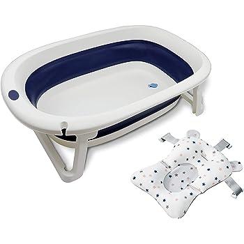 wamma 折りたたみ ベビーバスタブ ソフトタブ バスプール お風呂ワイド 滑り止め防止 多機能 バスネット付き