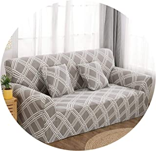 Amazing21 24 Colors Slipcover Stretch Four Season Sofa Covers Furniture Protector Polyester Loveseat Couch Cover Sofa Towel 1/2/3/4-seater,Color 14,4 Seater