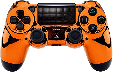 Chrome Orange Playstation 4 PS4 Dual Shock 4 Wireless...