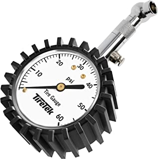 TireTek Premium Car Tire Pressure Gauge 60 PSI – Heavy Duty Tire Gauge ANSI Certified Accurate