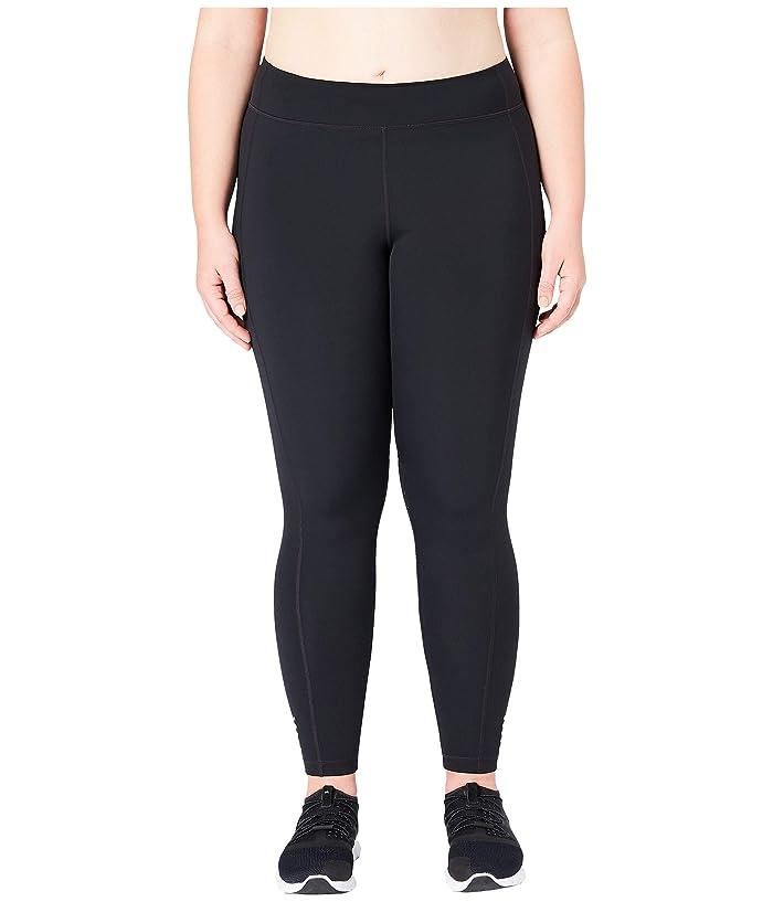 Core 10 Flashflex Plus Size Medium Waist Run Leggings (Black) Women