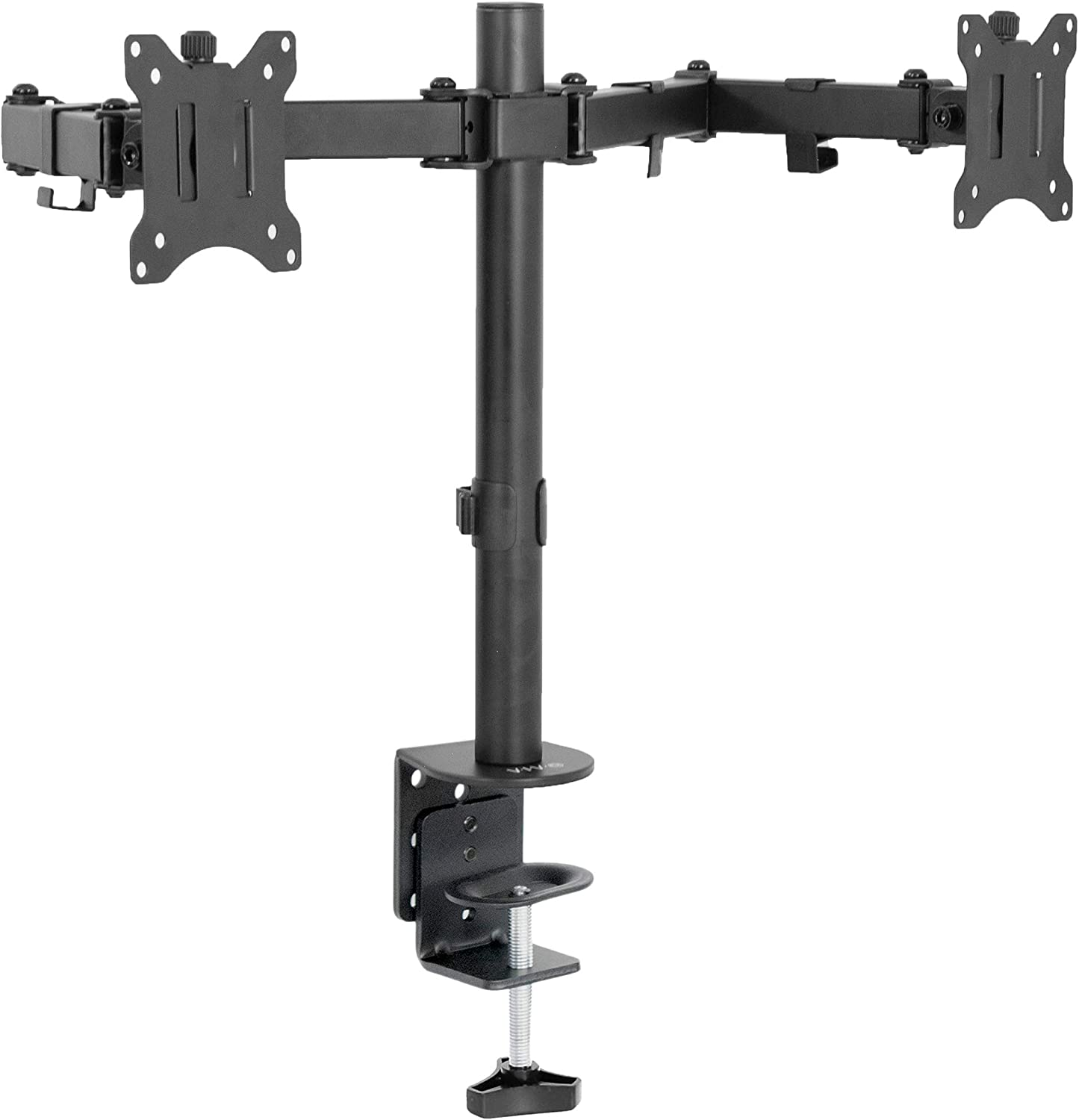 VIVO Dual 13 to 30 inch LCD Monitor Desk Mount, Fully Adjustable Stand with Tilt and Swivel, Holds 2 Screens with Max VESA 100x100, STAND-V200B