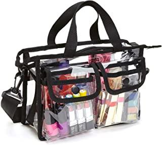 Enkrio Clear Bag Cosmetic Storage Bag NFL Stadium Security Approved Shoulder Bag Makeup Tote Bag with Strap & Zippered Top...