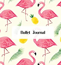 Hardcover Bullet Journal: Beautiful Flamingo Design | 150 Dot Grid Pages (size 8.5x8.5 inches) | Blank Journal