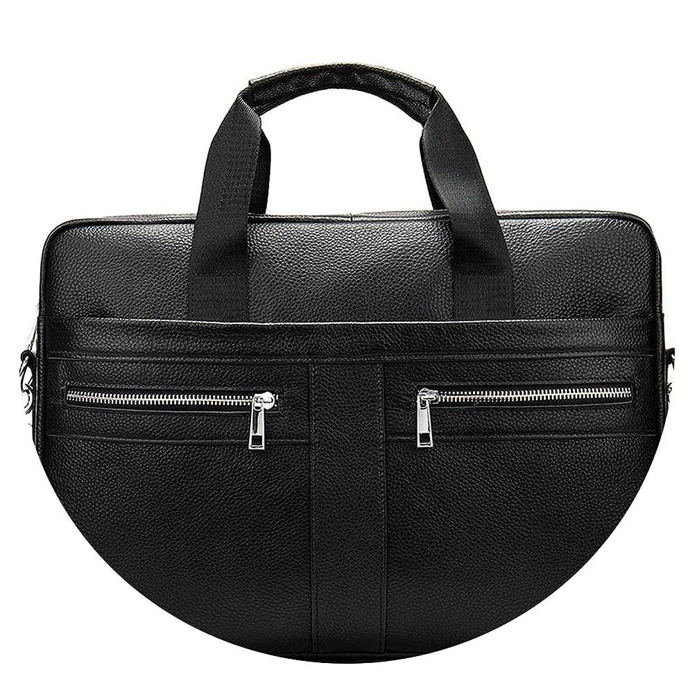Business Briefcases Man for lawyer Genuine Leather Bag Men Shoulder bags leather laptop men briefcases,2019Black