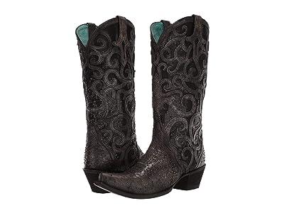 Corral Boots C3446 (Black) Cowboy Boots