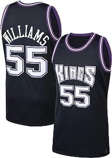 ZHILIN Kings Sacramento Schwarz Outdoor Uniform Trikots #55 Jason Basketball Trikot 2000-01 Saison Classics Jason Williams Reduzieren Schweiß Player Trikot