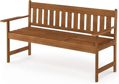 Furinno FG19341 Tioman Outdoor Hardwood Occasional Bench, Natural