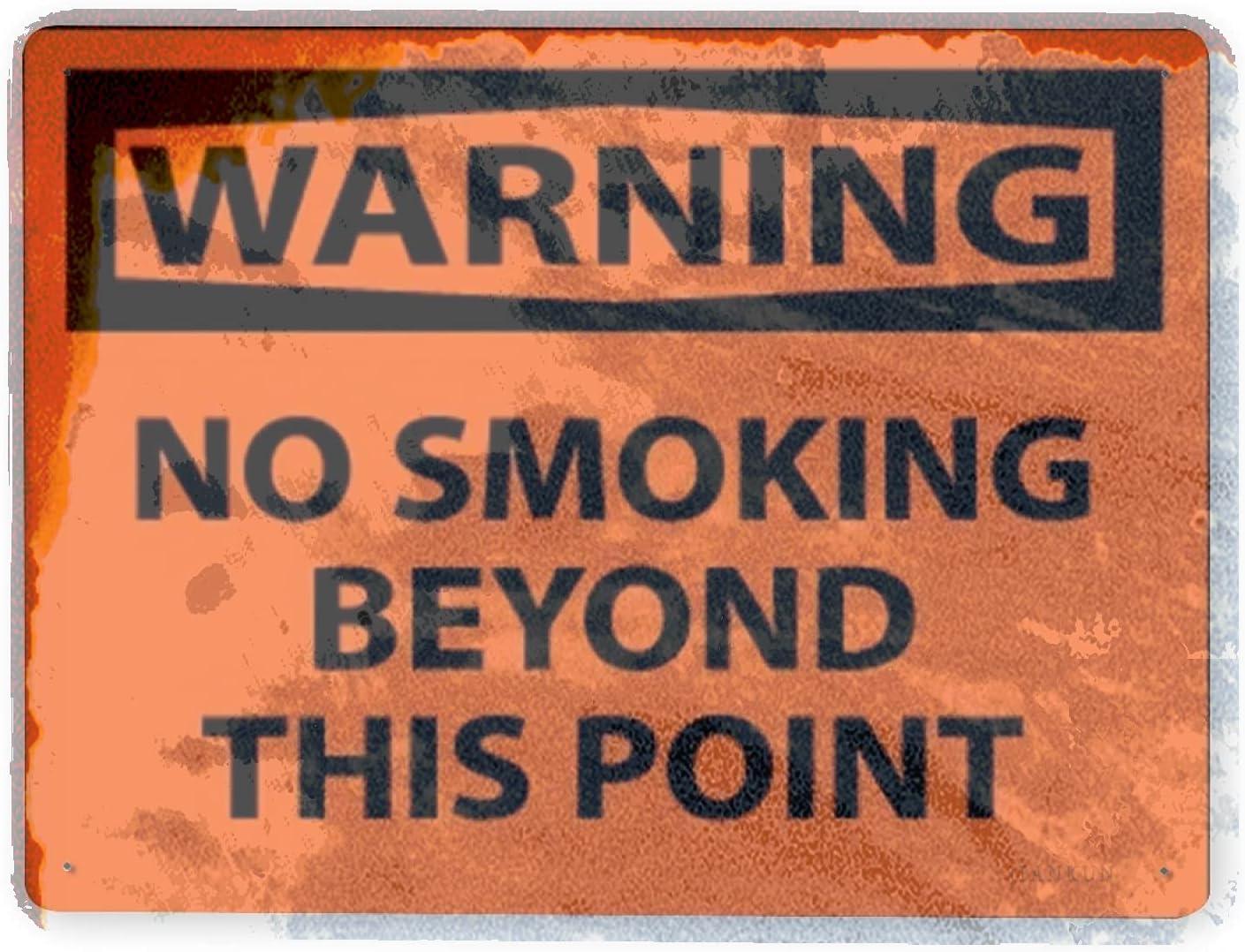 Austin Mall J.DXHYA Man Cave Decor favorite 2 Pieces Smoking Warning No Sign