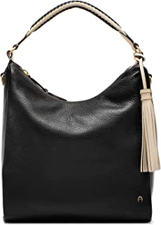 Etienne Aigner Womens Ava Leather Hobo In Black