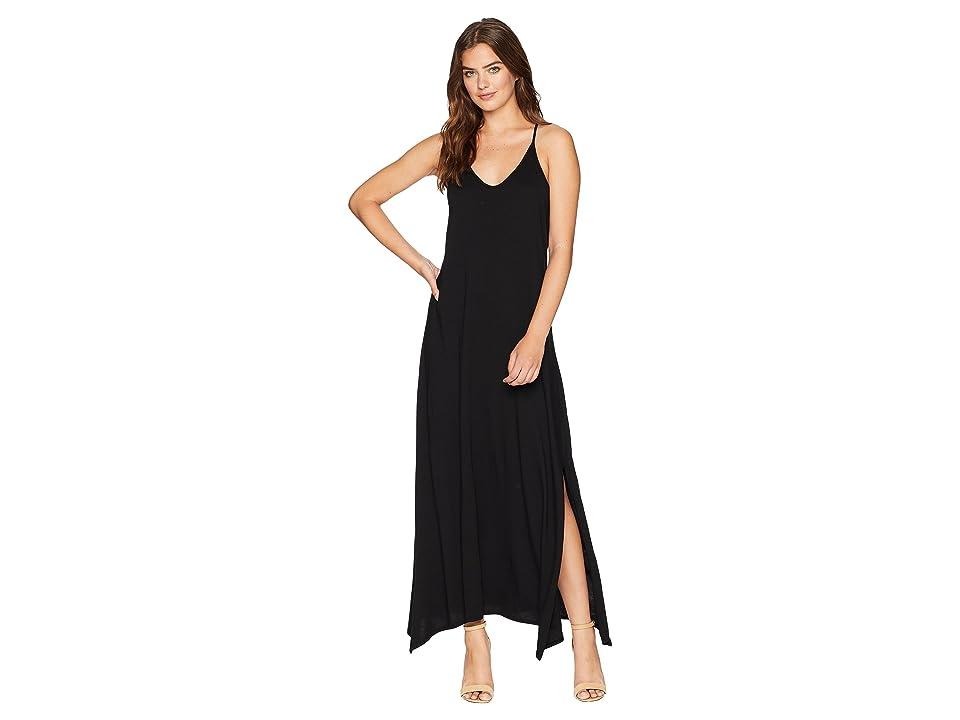 Michael Stars Cotton Modal Long Strappy Dress (Black) Women