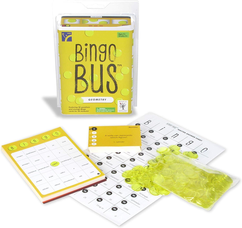 American Educational Bingo Bus Geometry Bingo Game