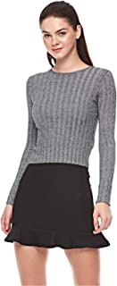 Bershka Blouses For Women, Dark Grey, Size XS