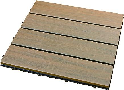 彩か SAIKA 【ベランダ・バルコニー】 Wood(パネル)Deck ナチュラルブラウン 12pack CWG-01