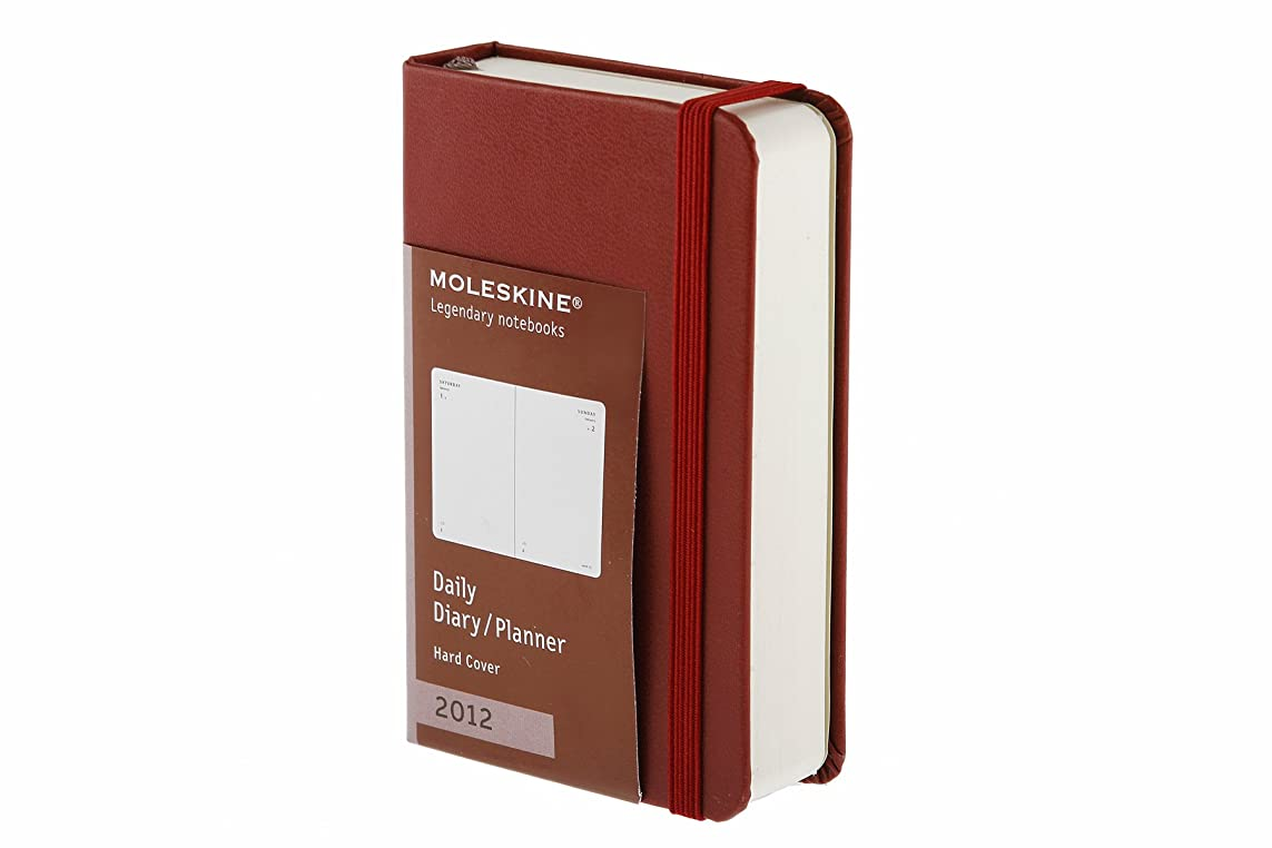 みなす戸棚ハウジングMoleskine 2012 12 Month Daily Planner Bordeaux Red Hard Cover X-Small (Moleskine Legendary Notebooks (Calendars))