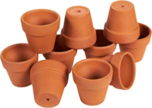 10 Pack Terra Cotta Pots with Drainage Holes - 2.6 inches Mini Clay Flower Pots Perfect for Succulent Display, Cactus Nurs...