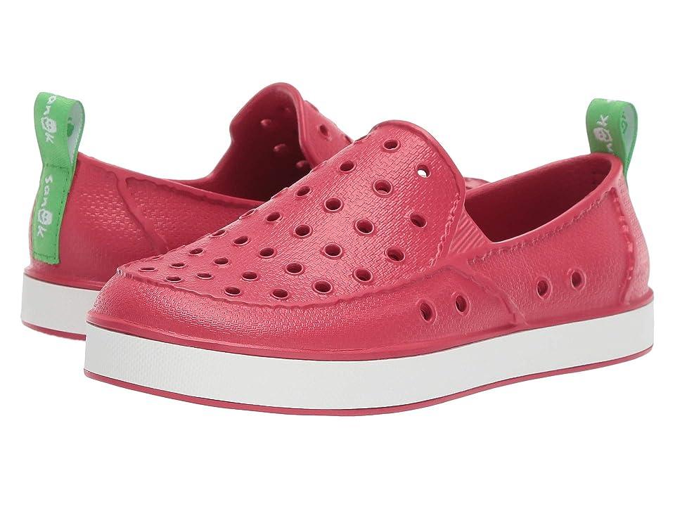 Sanuk Kids Lil Walker (Little Kid/Big Kid) (Red/White) Kids Shoes