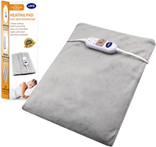 Small Heating Pad Electric - Warming Hot Wrap Flexible Heating Pad for Heat Therapy on Back, Knee, Shoulder, Neck Pain - Sinus, Menstrual Cramps, Arthritis, 12 inch x 15 inch (Grey)