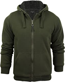 6fa429770a Mens Hoodie Sweatshirt Jumper Brave Soul 'Zone' Hooded Sherpa Lined