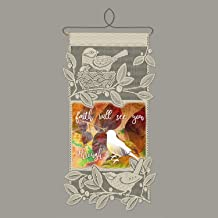 Heritage Lace Faith Wall Hanging, Café