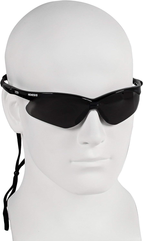 UVB//UVC//UVA protection Medium Black Frame with Smoke Anti-Fog Lens 9 Pair Jackson Nemesis Safety Glasses 3020121 Manufacturer Kimberly-Clark Corporation, V30 22475