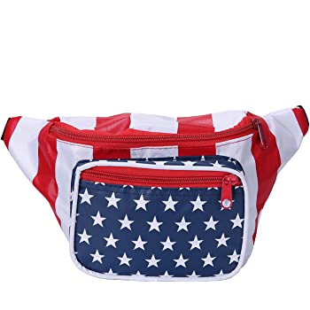 Hockey American Flag Sport Waist Pack Fanny Pack Adjustable For Travel