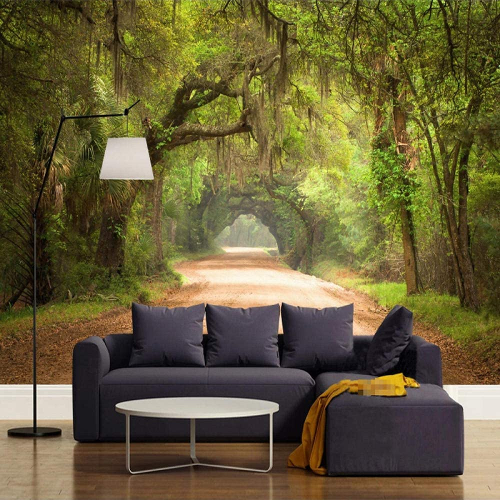Ranking TOP15 Max 69% OFF Ansyny 3D Mural Forest Small Landscape Photo Wallpaper Road Tree