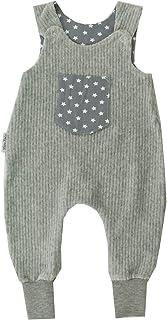 Kleine Könige Baby Strampler Jungen Baby Body  Modell Stars Sterne grau Ripp, hellgrau meliert  Ökotex 100 zertifiziert  Größen 50-92