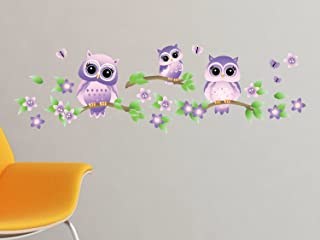 purple owl wall decals