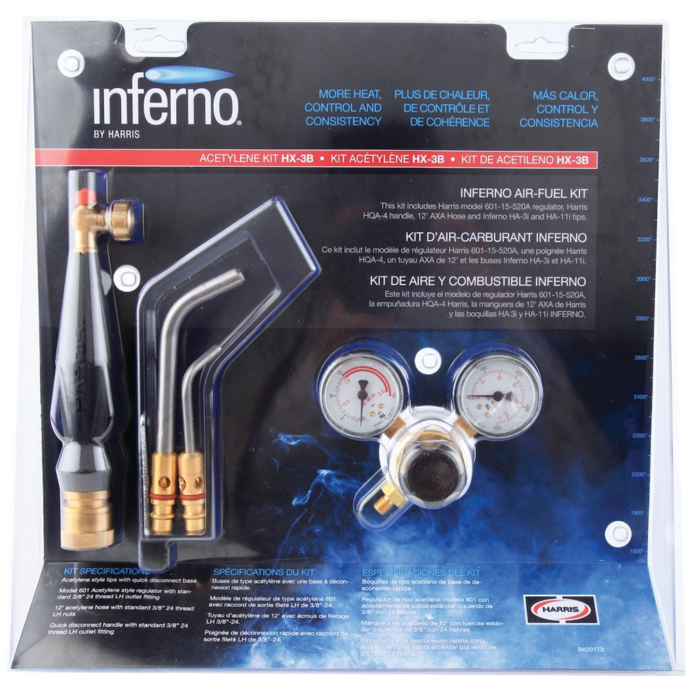 Harris HX-3B New item Inferno Air-Fuel Kit H 40% OFF Cheap Sale Connect with Quick Acetylene
