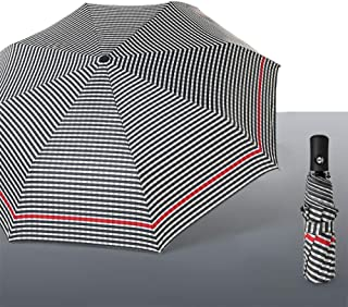 Lattice Innovative Umbrella, Folding Umbrella with Automatically Opens and Closes, Windproof and Waterproof, Light and Compact,Gris foncé