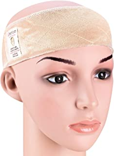 Dreamlover Elastic Wig Grip Headband, Adjustable Non Slip Velour Thin Wig Scarf Hat Grip Band, Nude